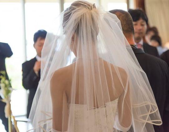 ウェディングドレスを着て嬉しい夢