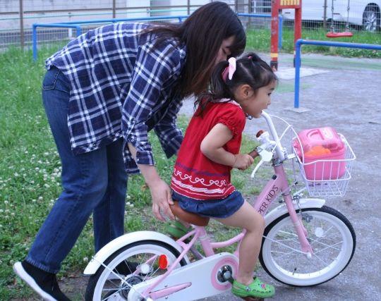 自転車の練習をする夢