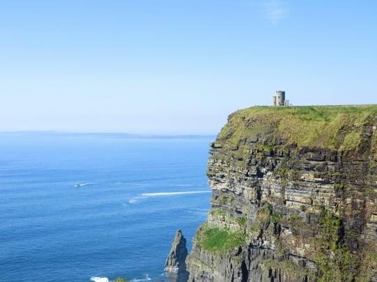 美しい崖の風景の夢