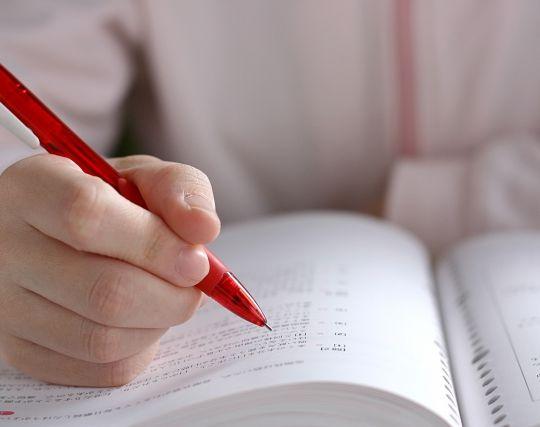 受験勉強をする夢