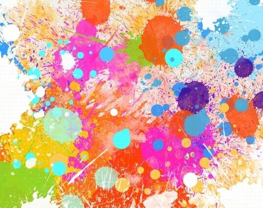 カラフルな色を使った絵の夢