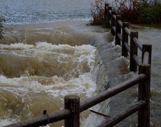 洪水の濁流が印象的な夢