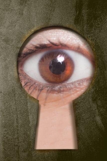 ストーカーに鍵穴から覗かれる夢