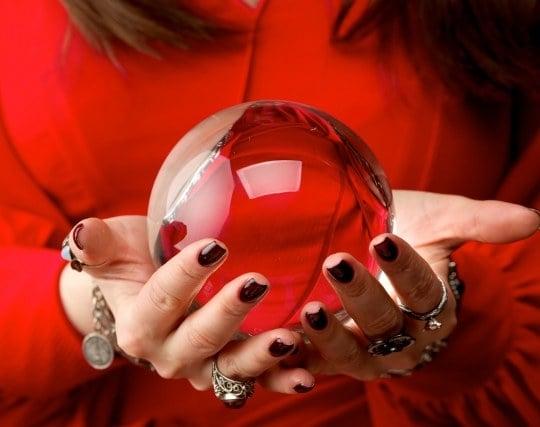 占い師の水晶玉が印象的な夢