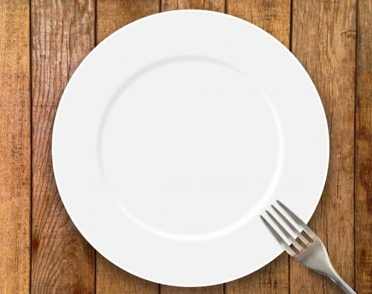 大きな白い皿の夢