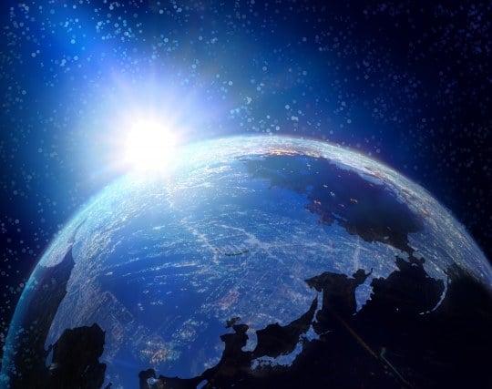 青くて美しい地球が見える夢