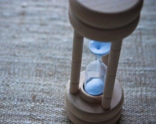 砂時計を見ている夢