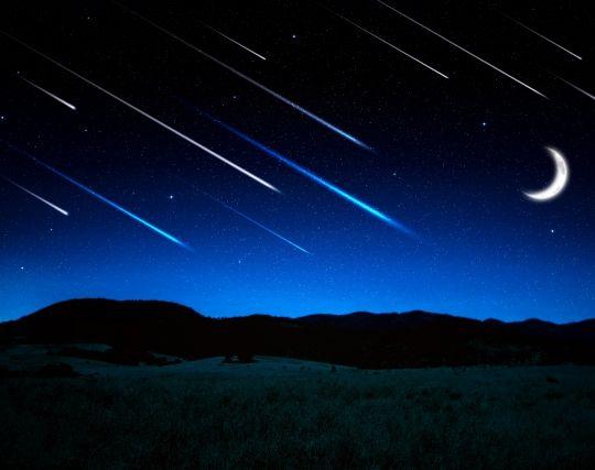 プラネタリウムで流れ星を見る夢