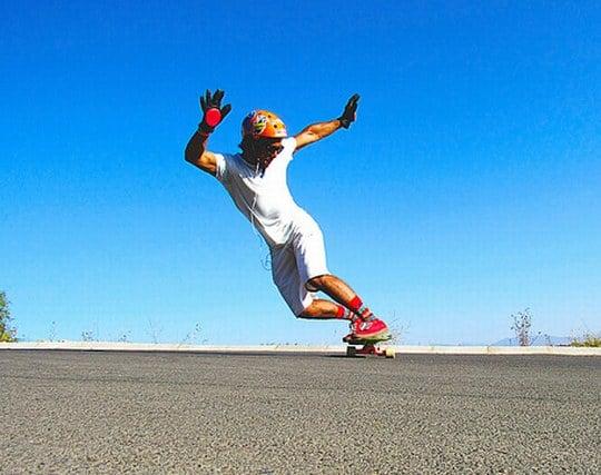 スケートボードを練習して上達する夢