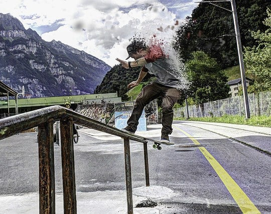 スケートボード競技会で<strong>優勝</strong>する夢
