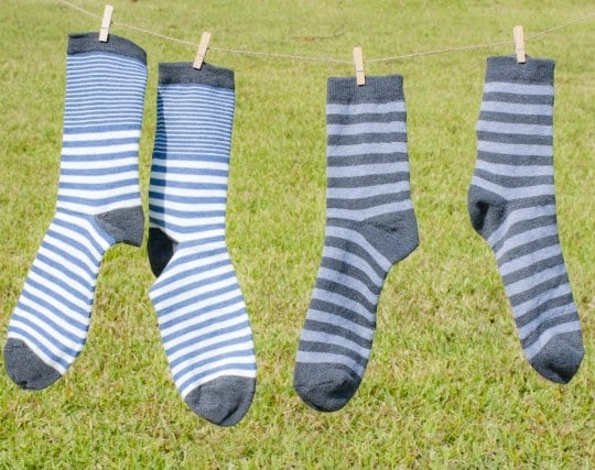 干された靴下の夢