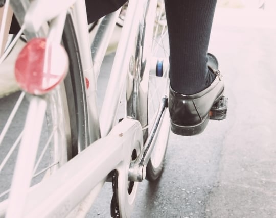 自転車で通学する夢