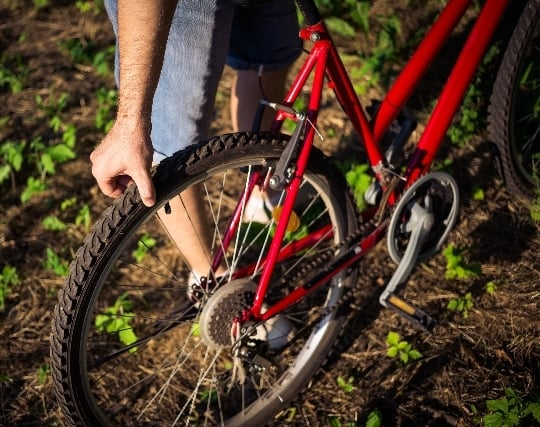 自転車のタイヤがパンクする夢