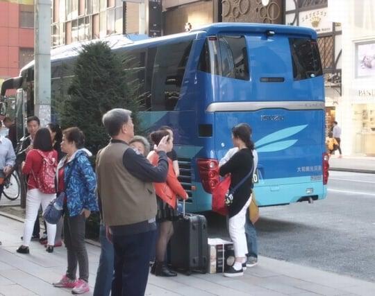 観光バスに乗る夢