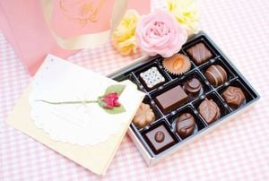 人にチョコレートをプレゼントする夢
