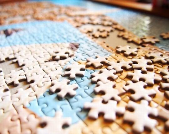 ジグソーパズルがなかなかできない夢