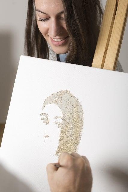 人物画を描く夢