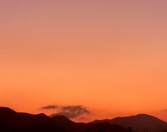 美しい夕焼け空の夢