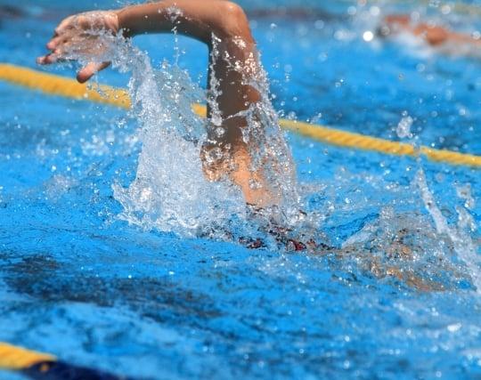 頑張って泳ぐ夢