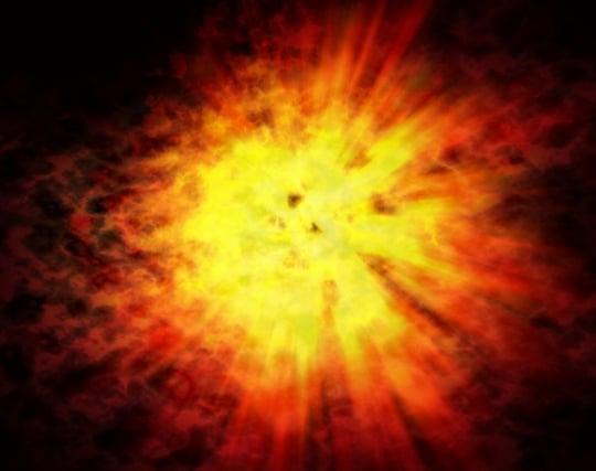 戦場で爆弾が<strong>爆発</strong>する夢