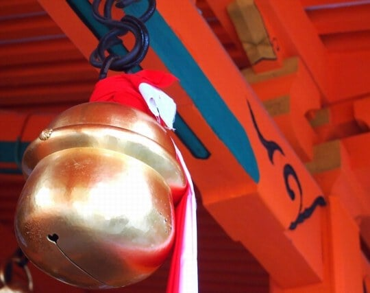 神社の鈴の音を聞く夢