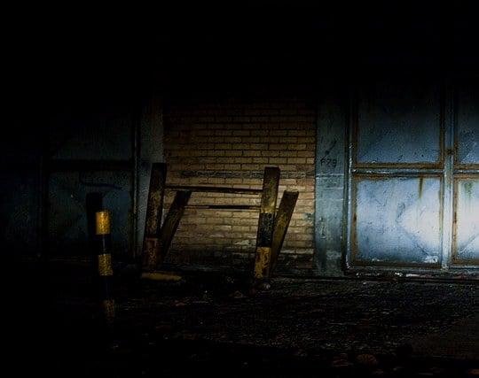 暗闇で一条の光を見る夢