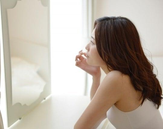 鏡で自分を見る夢