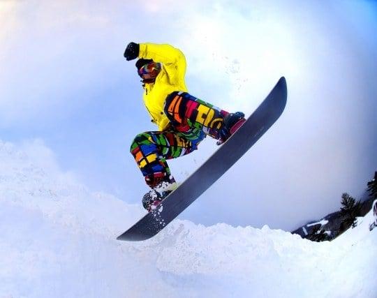 スノーボード競技会で優勝する夢