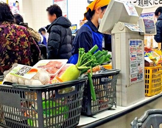 スーパーのレジに並ぶ夢
