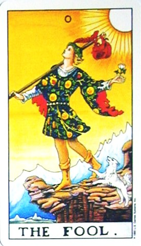 金貨のカード:愚者 - The Foolの正位置