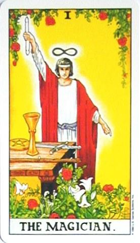 銀貨のカード:魔術師 - The Magicianの正位置