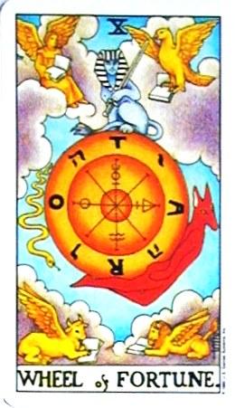 銀貨のカード:運命の輪 - Wheel of Fortuneの正位置