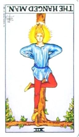 銀貨のカード:吊るされた男 - The Hanged Manの逆位置