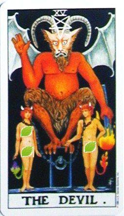 銀貨のカード:悪魔 - The Devilの正位置