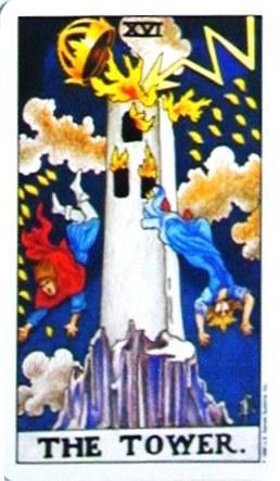 銀貨のカード:塔 - The Towerの正位置
