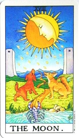 銀貨のカード:月 - The Moonの正位置