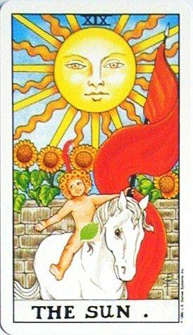 銀貨のカード:太陽 - The Sunの正位置