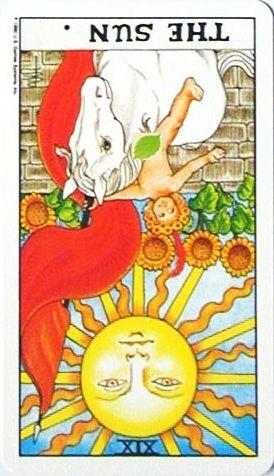 銀貨のカード:太陽 - The Sunの逆位置