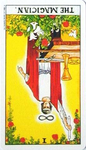 金貨のカード:魔術師 - The Magicianの逆位置