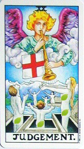 銀貨のカード:審判 - Judgementの正位置