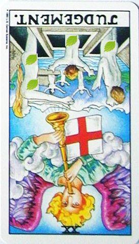 銀貨のカード:審判 - Judgementの逆位置