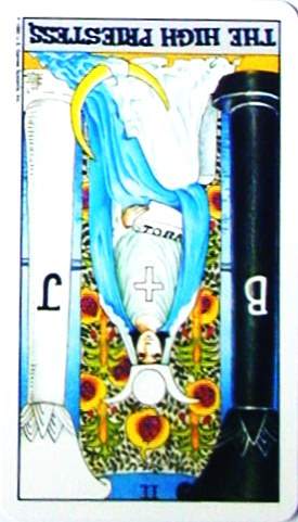 金貨のカード:女教皇 - The HighPriestessの逆位置