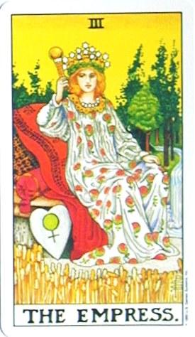 金貨のカード:女帝 - The Empressの正位置