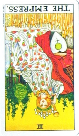銀貨のカード:女帝 - The Empressの逆位置