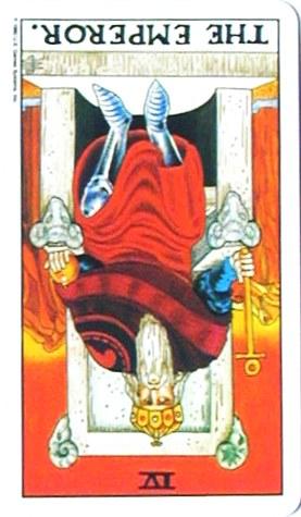 金貨のカード:皇帝 - The Emperorの逆位置