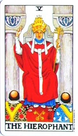 金貨のカード:教皇 - Hierophantの正位置
