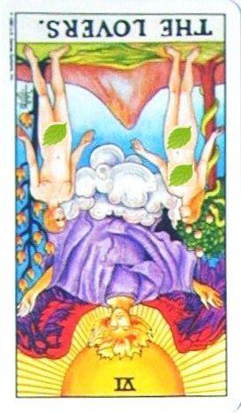 金貨のカード:恋人 - The Loversの逆位置