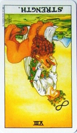 銀貨のカード:力 - Strengthの逆位置