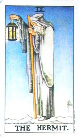 銀貨のカード:隠者 - The Hermitの正位置