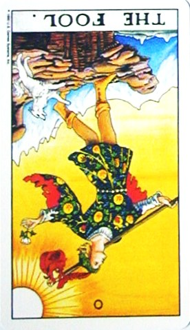 金貨のカード:愚者 - The Foolの逆位置